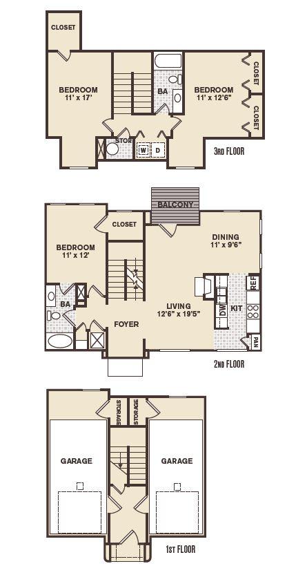 Grant Park Floor Plan at Providence at Old Meridian, Carmel, IN