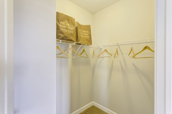 Walk-In Closets With Built-In Shelving at Whetstone Flats, Nashville, TN, 37211
