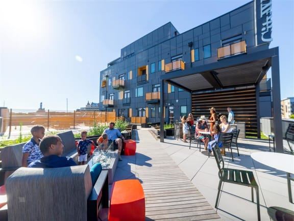 Outdoor Work & Gathering Spaces at CityWay, Indiana