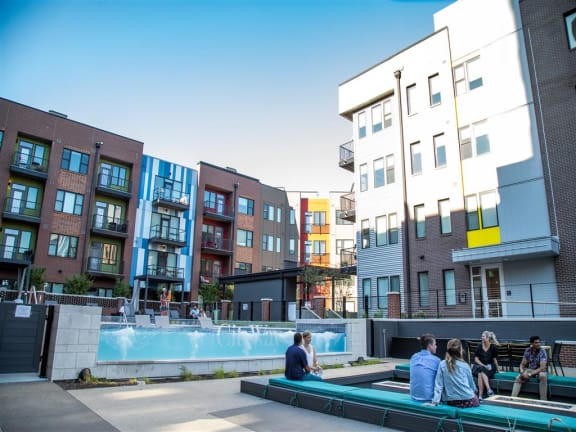 Outdoor Pools with Patio at CityWay, Indianapolis, 46204