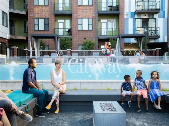 Outdoor Pools with Patio Seating at CityWay, Indianapolis, IN