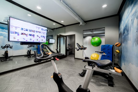 Fitness Center With Yoga/Stretch Area at Providence at Old Meridian, Indiana, 46032