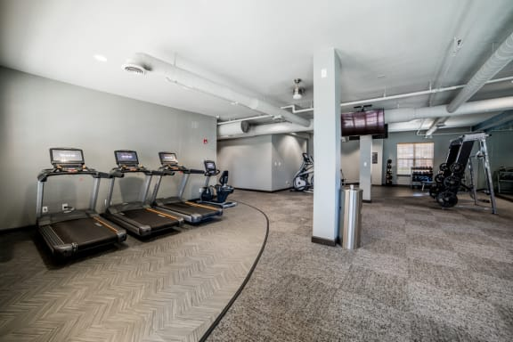 Fitness Center With Updated Equipment at Providence at Old Meridian, Carmel