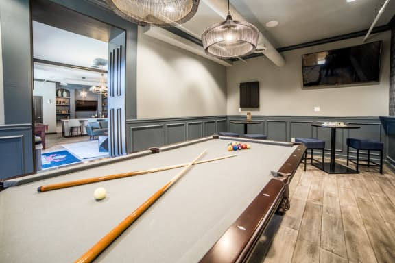 Billiards Table In Game Room at Providence at Old Meridian, Carmel