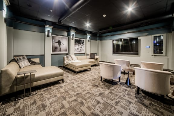 Private Movie Theater With Comfy Sitting at Providence at Old Meridian, Carmel, Indiana