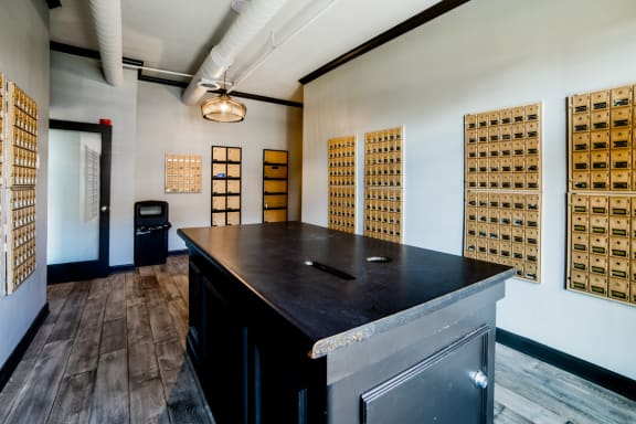 Amazon Hub Package Lockers at Providence at Old Meridian, Carmel, Indiana