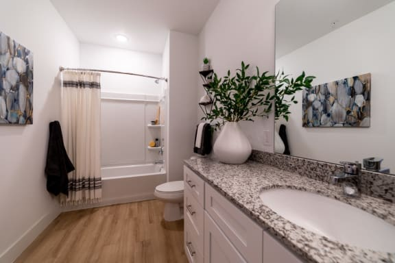 Picture of bathroom and countertops
