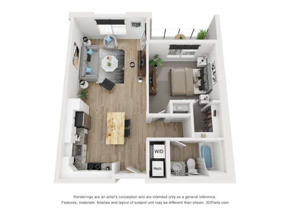 1A Floor Plan at The Approach at Summit Park, Blue Ash, 45242