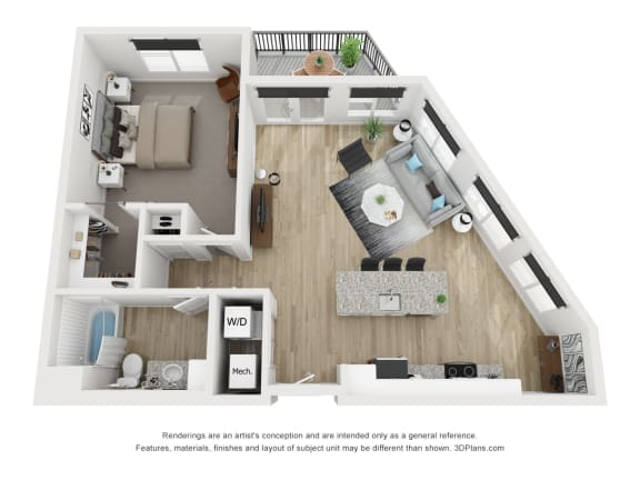 1E Floor Plan at The Approach at Summit Park, Blue Ash, OH