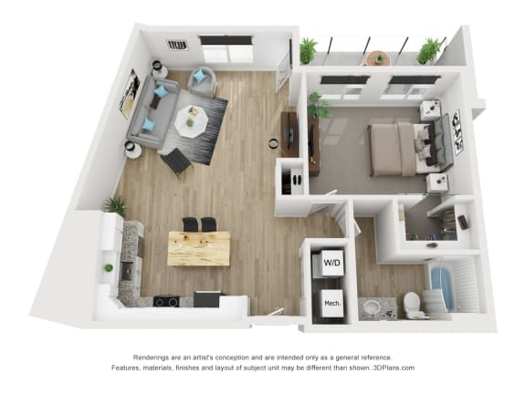 1F Floor Plan at The Approach at Summit Park, Ohio, 45242