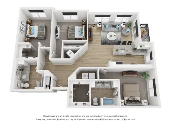 3C Floor Plan at The Approach at Summit Park, Blue Ash, OH