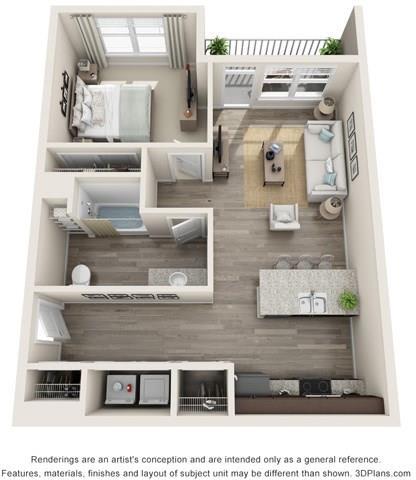 Marble Floorplan Image at Whetstone Flats, Nashville