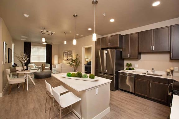 Kitchen and living room at ALLURE AT 2920, California, 95356