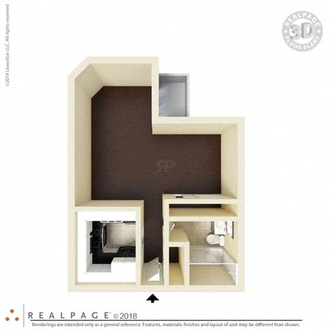 400 square feet floor plan Studio 3D