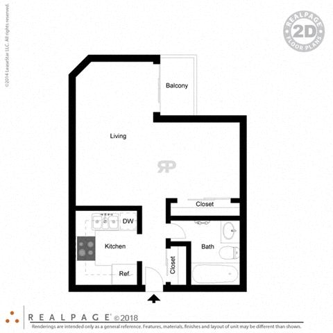 400 square feet floor plan Studio