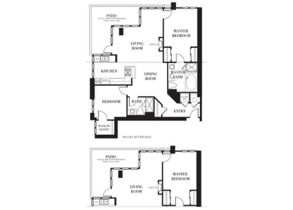 Sacramento Floorplan at Astoria at Central Park West Apartments