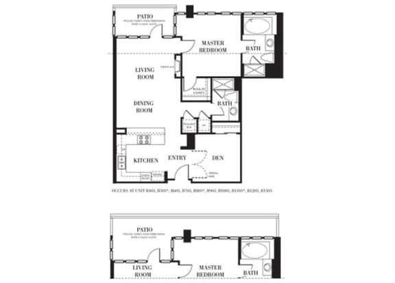Santa Barbara Floorplan at Astoria at Central Park West Apartments