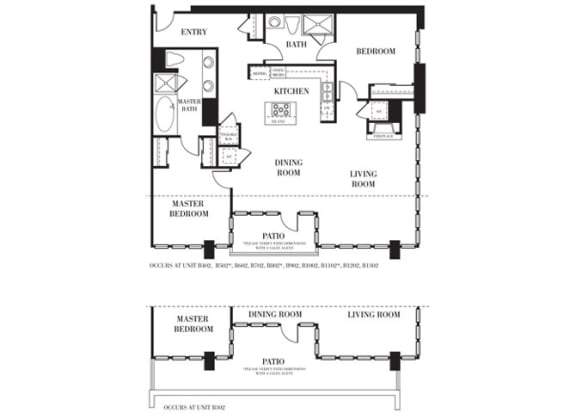 Palm Springs Floorplan at Astoria at Central Park West Apartments