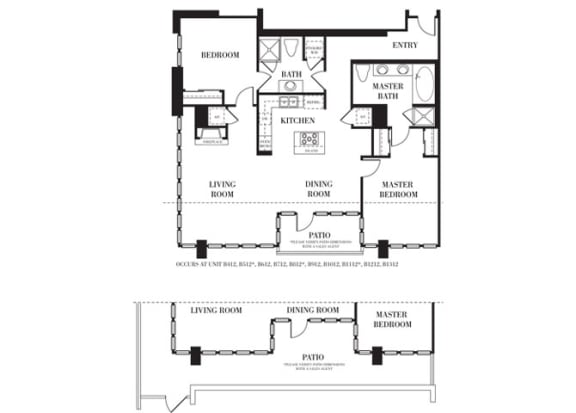 Laguna Hills Floorplan at Astoria at Central Park West Apartments