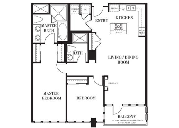 Santa Clara Floorplan at Astoria at Central Park West Apartments