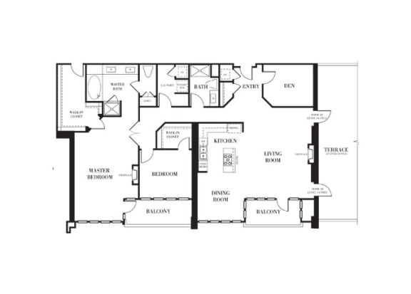 Beverly Hills - Penthouse Floorplan at Astoria at Central Park West Apartments