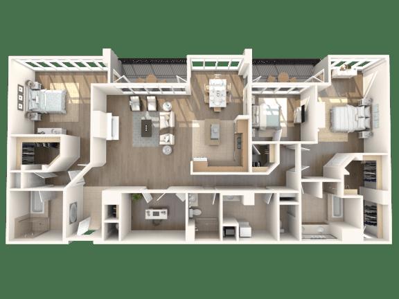 Madison Penthouse Floorplan