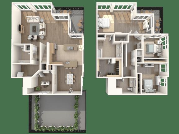 Manhattan Penthouse Floorplan