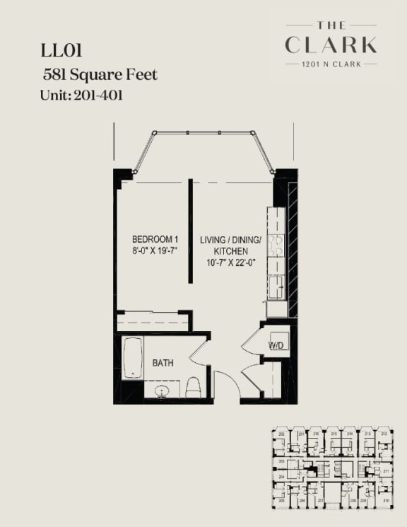 Floor Plan  units 201, 301, 401
