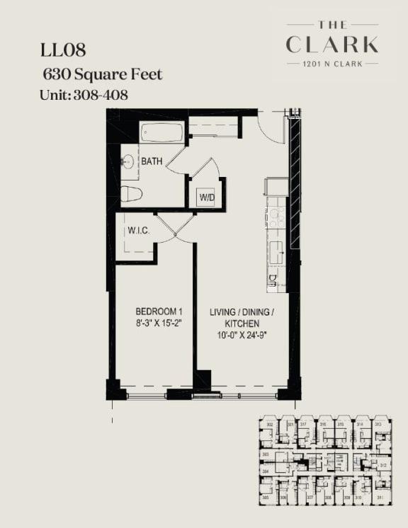 Floor Plan  units 308-09, 408-09