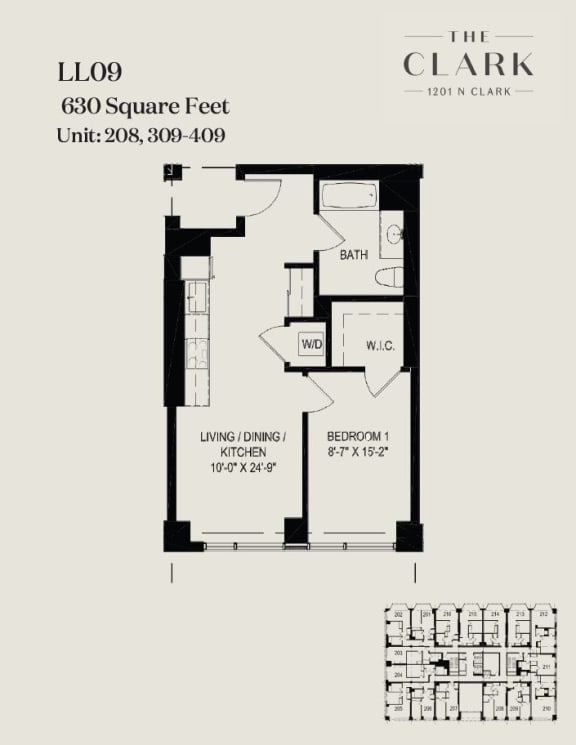Floor Plan  units 208, 309, 409
