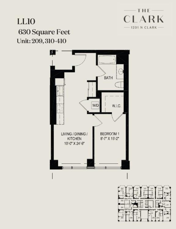 Floor Plan  units 209, 310, 410