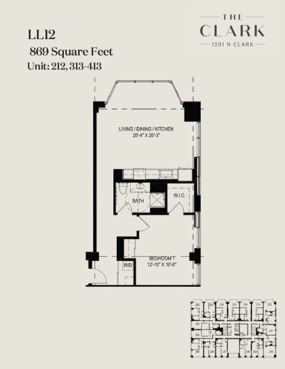 Floor Plan  units 212, 313, 413