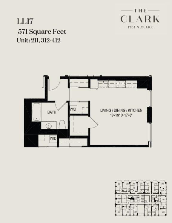 Floor Plan  units 211, 312, 412