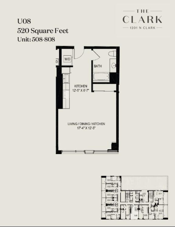 Floor Plan  units 508, 608, 708, 808