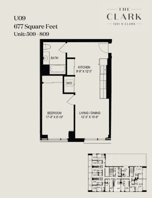 Floor Plan  units 509, 609, 709, 809