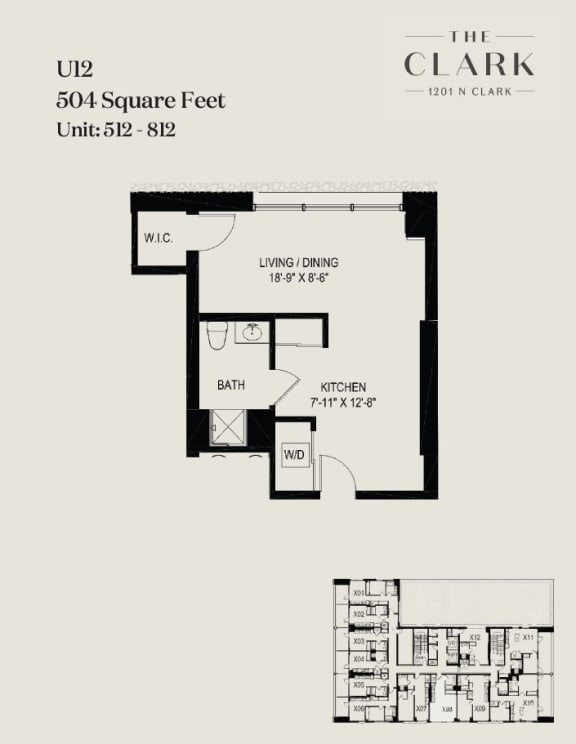Floor Plan  units 512, 612, 712, 812