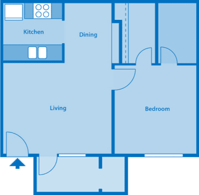 The Arboretum 1A Floor Plan Image depicting layout of home.