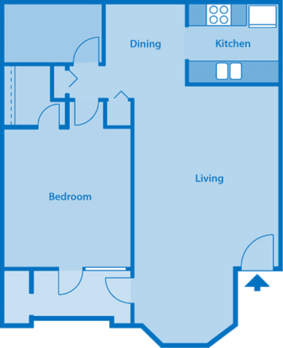 The Arboretum 1B Floor Plan Image depicting layout of home.