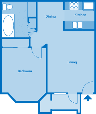 The Arboretum 1C Floor Plan Image depicting layout of home.