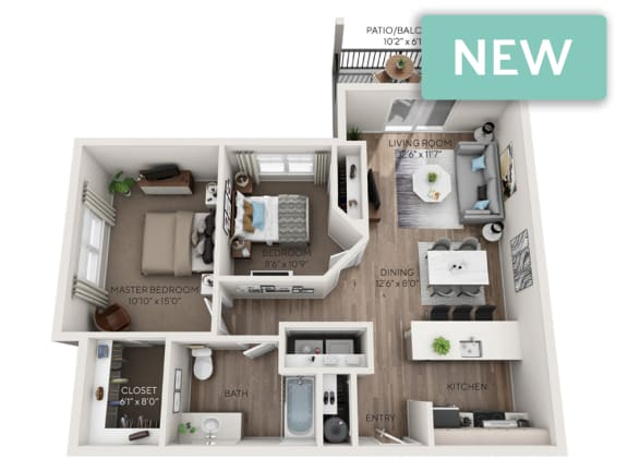 Floor Plan  Paradise Phase II 3D floorplan