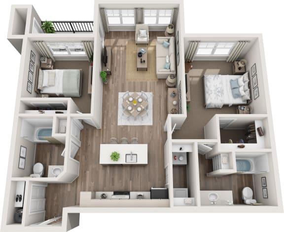 Stevens 3d floorplan