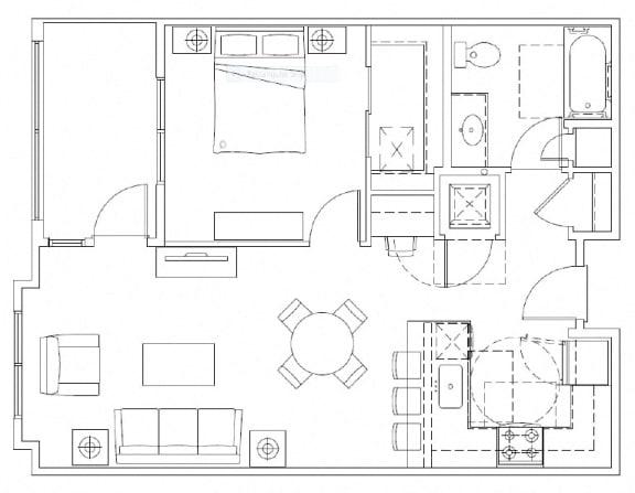 Floor Plan  1x1 Type A