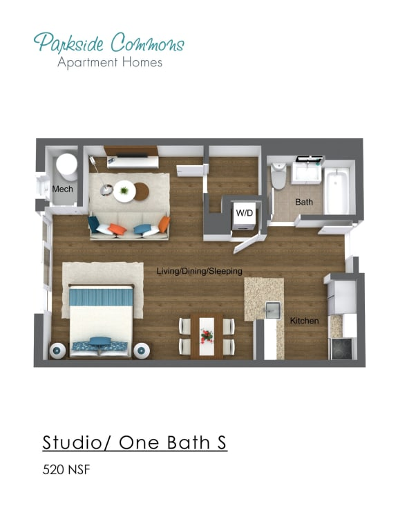 Floor Plan  520 SQ FT