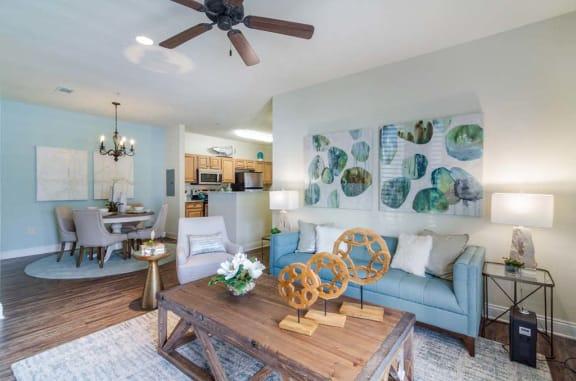 Modern Living Room at Charleston Apartment Homes, Alabama