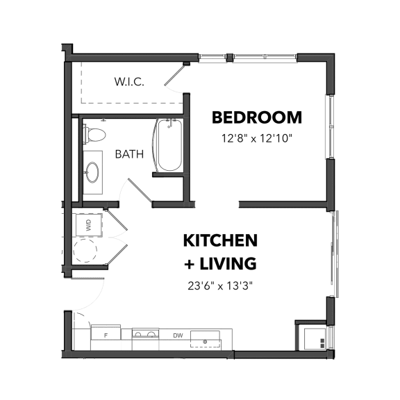 The 1 bedroom 1 (Blue)