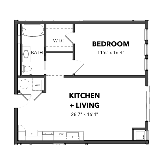 Bakery Living One Bedroom 5, apartments in Pittsburgh, PA 15206