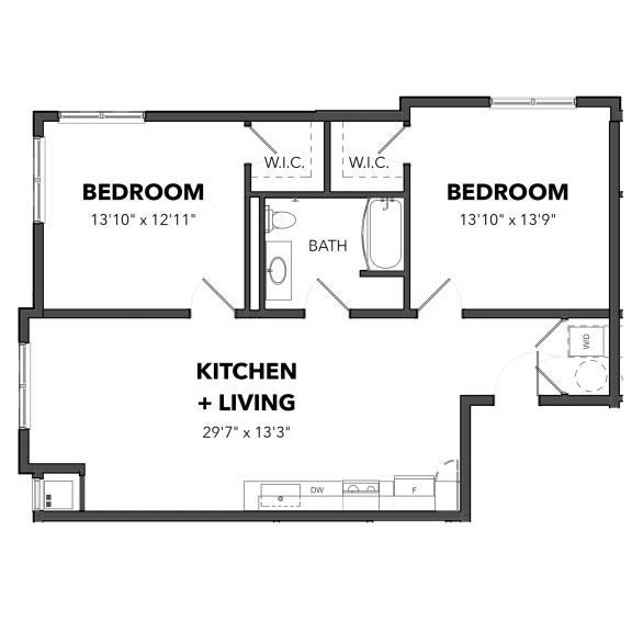 Bakery Living Two Bedroom 3, apartments in Pittsburgh, 15206