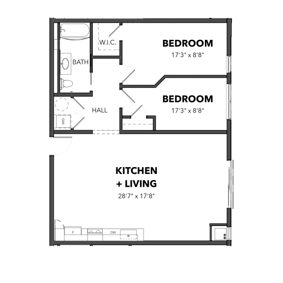 Bakery Living Two Bedroom 4, apartments in Pittsburgh, Pennsylvania