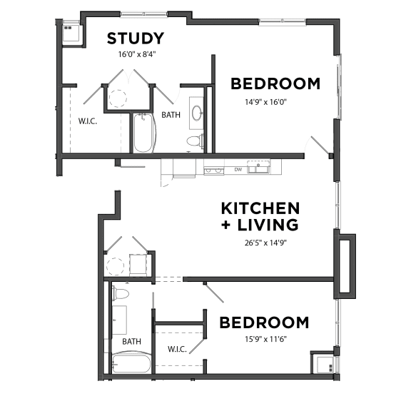 Bakery Living Two Bedroom 7, apartments in Pittsburgh, Pennsylvania 15206