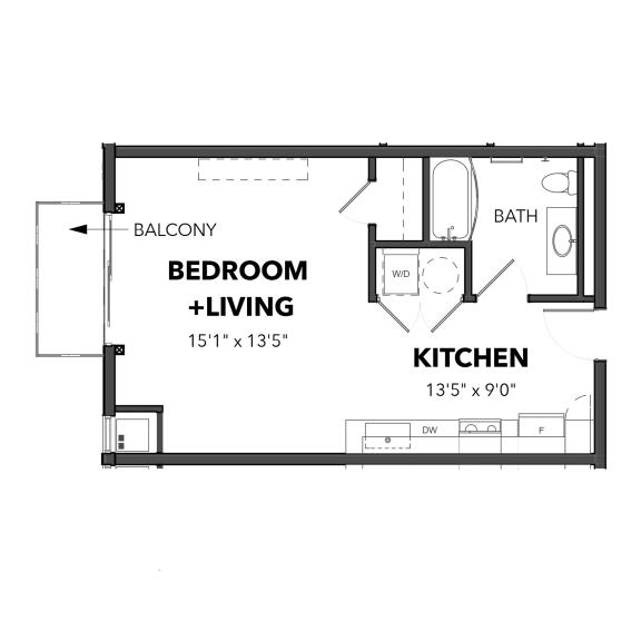 Bakery Living Micro 1, apartments in Pittsburgh, Pennsylvania
